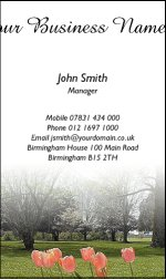 Business Card Design 429 for the Gardening Industry.