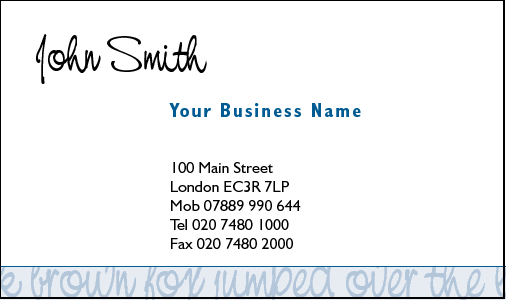 Business Card Design 341 for the Secretarial Industry.