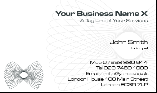 Business Card Design 791 for the Architectural Industry.