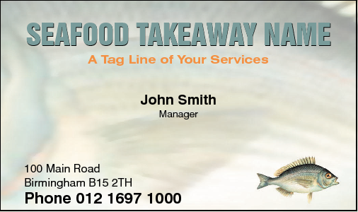Business Card Design 431 for the Take Away Industry.