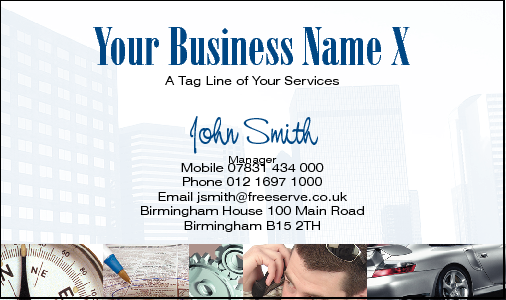Business Card Design 559 for the MLM Industry.