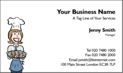 Business Card Design 43 for the Catering Industry.