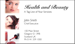 Business Card Design 596 for the Beauty & Health Industry.