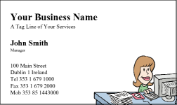 Business Card Design 23 for the Secretarial Industry.