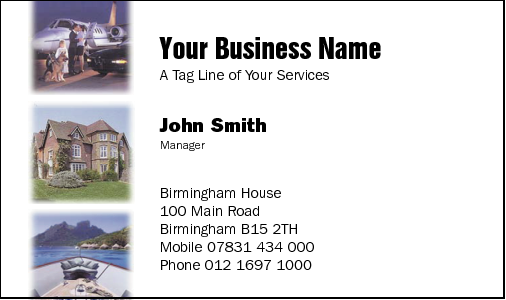 Business Card Design 9 for the Auctioneering Industry.