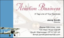 Business Card Design 557 for the Aviation Industry.