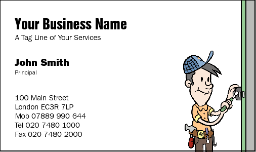 Business Card Design 31 for the Handyman Industry.
