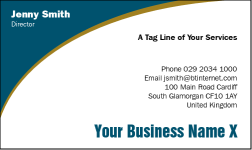 Business Card Design 492 for the Consulting Industry.