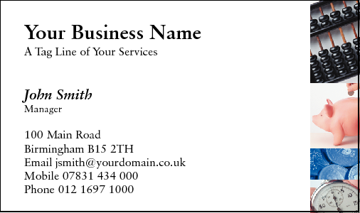 Business Card Design 175 for the Secretarial Industry.
