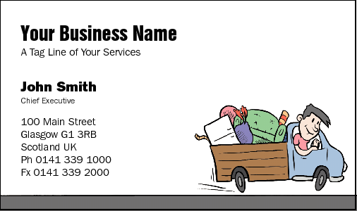 Business cards for rubbish removalists business card design 35 for the rubbish removal industry colourmoves
