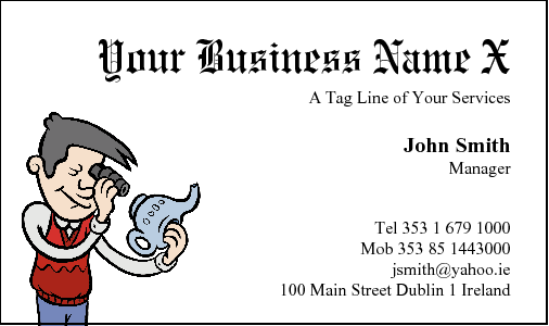 Business Card Design 186 for the Antique Industry.