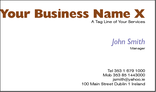 Business Card Design 561 for the Veterinarian Industry.
