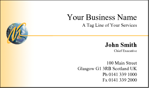 Business Card Design 10 for the Insurance Industry.