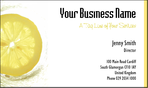 Business Card Design 495 for the Take Away Industry.