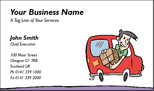 Business Card Design 193 for the Courier Industry.