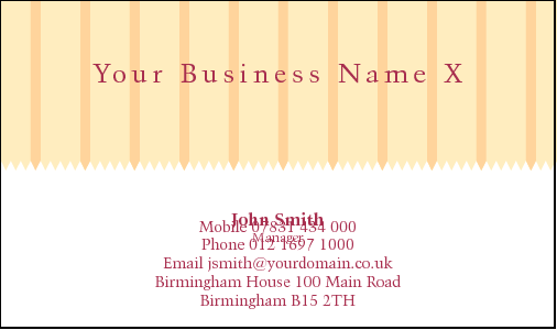 Business Card Design 799 For The Interior Industry