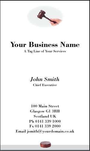 Business Card Design 179 for the Law Industry.