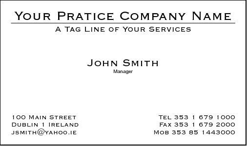 Business Card Design 386 for the Massage Industry.