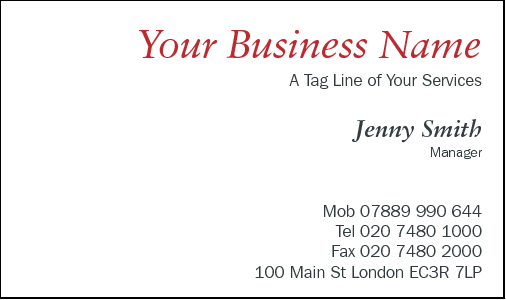Business Card Design 593 for the Floristry Industry.